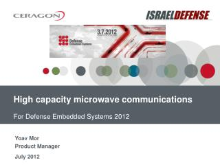 High capacity microwave  communications