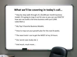 What we'll be covering in today's call…