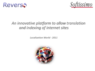 An  innovative platform  to  allow  translation and  indexing  of internet sites Localization  World - 2011