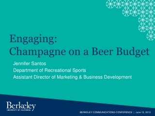 Engaging: Champagne on a Beer Budget