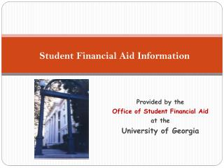 Student Financial Aid Information
