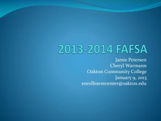 2013-2014 FAFSA