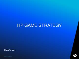HP Game Strategy