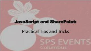 JavaScript and SharePoint :