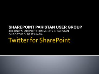 Twitter for SharePoint