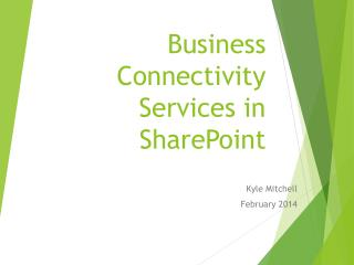 Business Connectivity Services in SharePoint