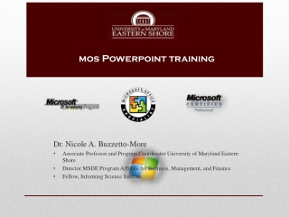 mos Powerpoint  training