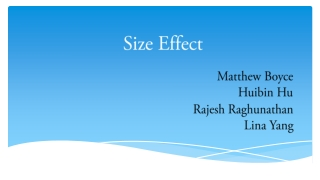 Size Effect