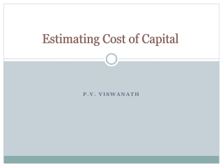 Estimating Cost of Capital