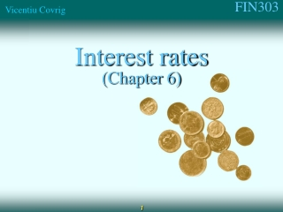 Interest rates (Chapter 6)