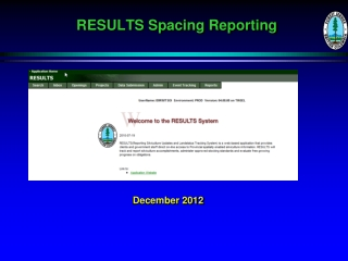 RESULTS Spacing Reporting