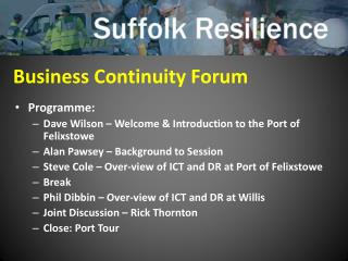 Business Continuity Forum