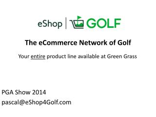 The  eCommerce  Network of Golf