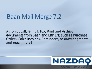 Baan Mail Merge 7.2