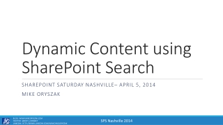 Dynamic Content using SharePoint Search