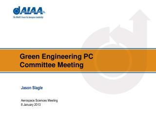 Green Engineering PC Committee Meeting