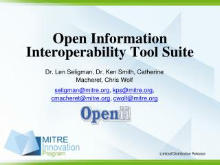 Open Information Interoperability Tool Suite