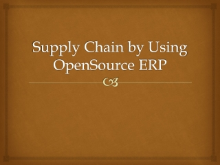 Supply Chain  by Using  OpenSource  ERP