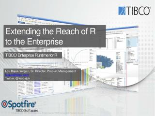 Extending the Reach of R  to the Enterprise