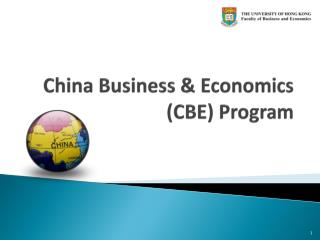 China Business & Economics (CBE) Program