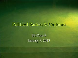 Political Parties & Cartoons