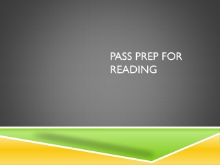 PASS Prep for Reading
