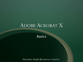Adobe Acrobat X