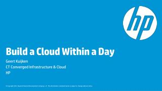 Build a Cloud Within a Day