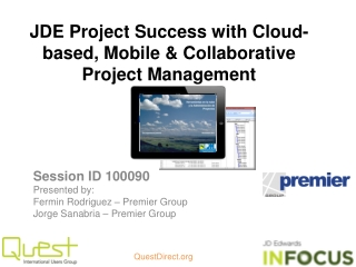 JDE Project Success with Cloud-based, Mobile & Collaborative Project  Management