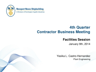 4th  Quarter  Contractor Business Meeting