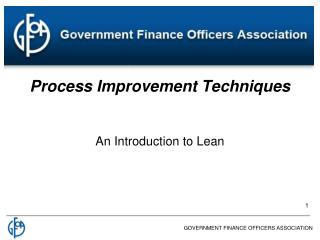 Process Improvement Techniques