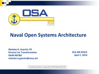 Naval Open Systems Architecture
