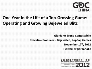 One Year in the Life of a Top-Grossing Game: Operating and Growing Bejeweled Blitz