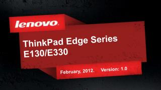 ThinkPad Edge Series E130/E330