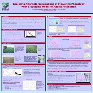 exploring alternate conceptions of flowering phenology with a systems model of alfalfa pollination k. strickler,  pollin