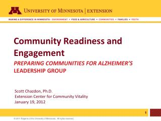 Community Readiness and Engagement