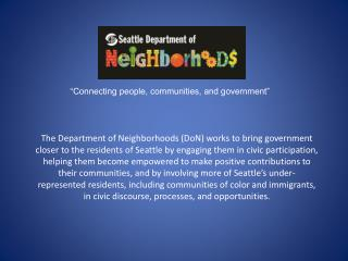 """Connecting people, communities, and government"""