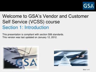 List of VCSS Training Presentations
