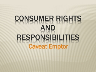 consumer rights and responsibilities essay