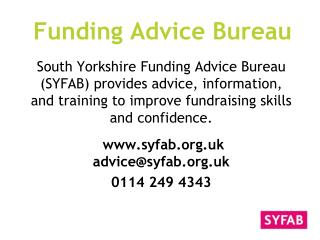 Funding Advice Bureau