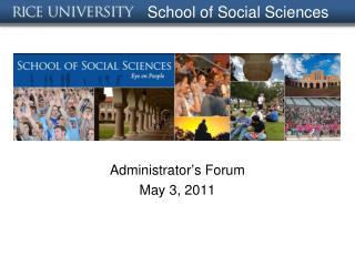 School of Social Sciences