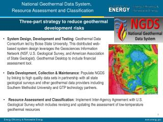 Three-part strategy to reduce geothermal  development risks