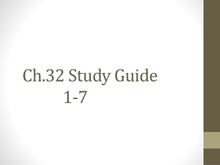 Ch.32 Study Guide  				1-7