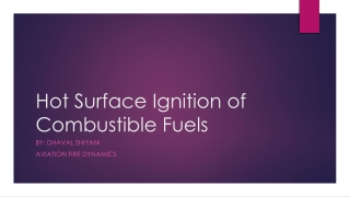 Hot Surface Ignition of Combustible Fuels