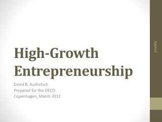 High-Growth Entrepreneurship