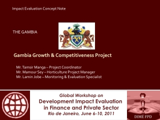Gambia Growth & Competitiveness Project