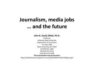 Journalism, media jobs … and the future