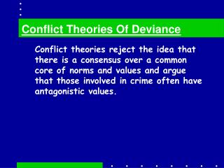 conflict theories of deviance