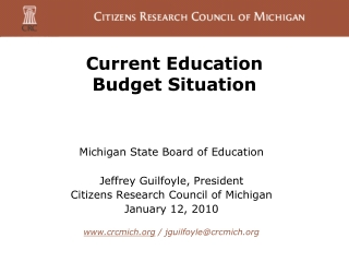 Current Education  Budget Situation