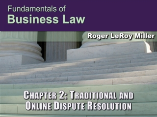 Chapter 2: Traditional and Online Dispute Resolution